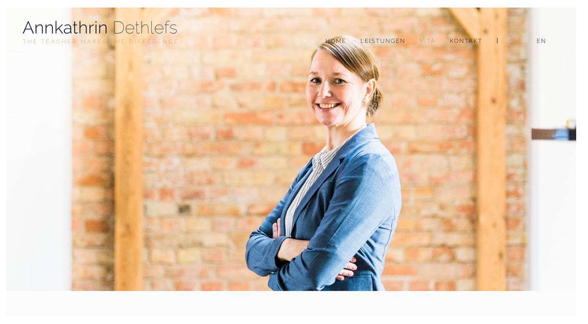 Portrait Webseite Sprachlehrerin